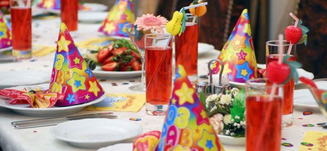 Сервировка стола детского дня рождения