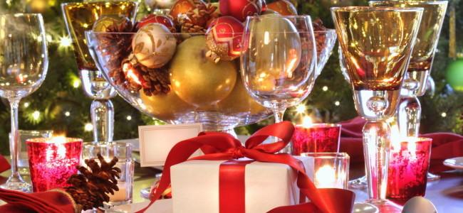 Сервировка стола на Новый год и рождество